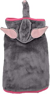Balacoo Funny Dog Cat Costumes Elephant Dress Up Pet Halloween Christmas Cosplay Hoodie Adorable Hoodie Coats Pets Jumpsuits Outfits for Small to Medium Puppy Kitten Size S