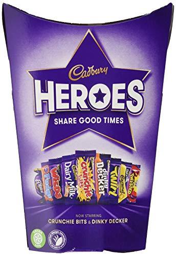 Cadbury Heroes Schokoladenmix – köstlich cremige Schokolade im bunten Mix – vielfältige Mischung aus feinsten Süßigkeiten – perfekt zum Teilen!