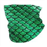Estampado de Serpiente Estampado de Pescado Calentador de Cuello Verde Polaina de Cuello sin Polvo Bufanda de Boca a Prueba de Viento Pañuelo para la Piel Unisex Muffle Bufanda