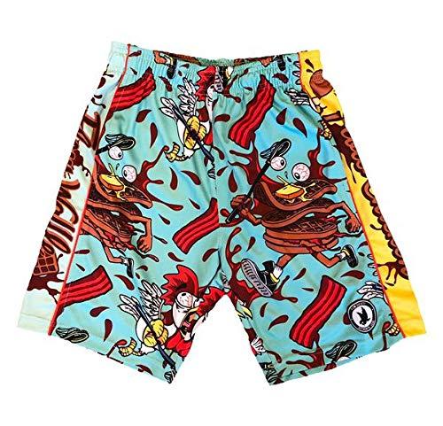 Flow Society Chicken & Waffles Boys Athletic Shorts - Boys Shorts - Gym Shorts Blue