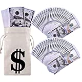 TAOPE 200 PCS Prop Money, Fake Money Full Print Two Sided, Prop Money 100 Dollar Bills Realistic, Fake Money That Looks Real for Movie,Video,Teaching and Birthday Party
