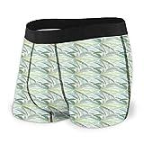 Men 'S Underwear Sports Boxershorts, einfarbiges Woodland-Muster mit schwarzer Palme auf weißem Hintergrund Größe S MBF-106