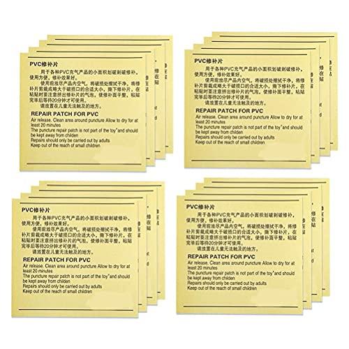 Hspemo Reparaturflicken,50 PCS PVC Patch Reparaturset, Wasserfeste Selbstklebende Reparaturflicken, Pannenreparaturset Wasserdichtes Pool Patches Klebeset für Schlauchboot, Kajak, Schwimmbäder
