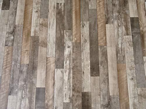 PVC Bodenbelag in markantem Holz-Design (8,95€/m²), Zuschnitt (2m breit, 3m lang)