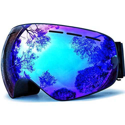HONGDAK Snowboard Ski Snowmobile Goggles for Men Women Anti Fog OTG...