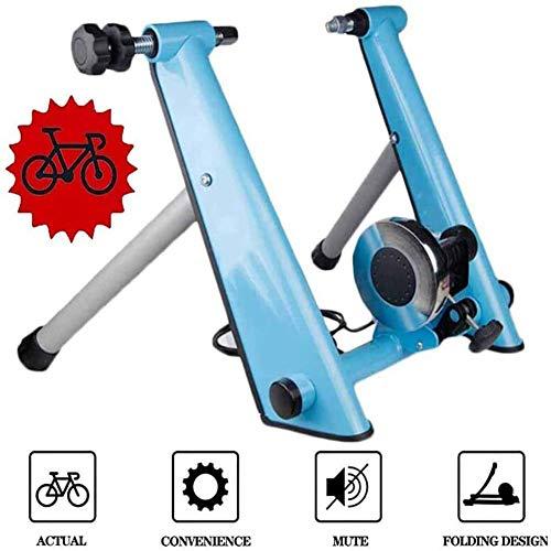 DDDXXX Magnetische turbo-trainer met wielen, oefenstation, opvouwbaar, fietshouder voor mountainbike, fietsen op de weg, opvouwbaar