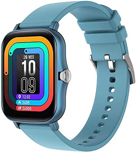 QHG Pantalla Completa Touch Reloj Inteligente para Hombres Mujeres Mujeres Larga Batería Spots Fitness Tracker Tarifa cardíaca Monitor de Salud Relojes de Pulsera (Color : Pinkgold)
