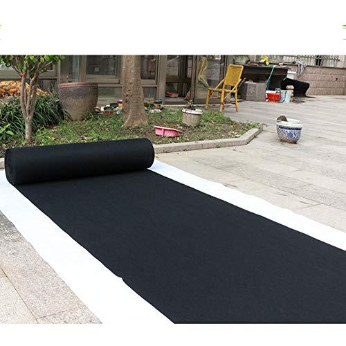 Alfombra Negra Ceremonia del Corredor De Bodas Pasillo Alfombra VIP Alfombra For Eventos Absorbente De Agua Antideslizante Personalizable JINRONG (Color : Black, Size : 1 * 10m)