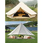 Sporttent Camping 4 Season Waterproof Cotton Canvas Bell Tent with Stove Hole and Cable Hole 14