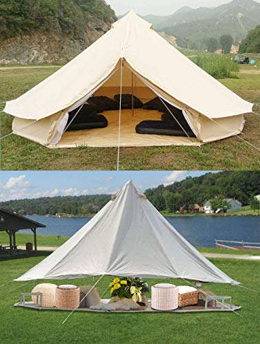 Sporttent Camping 4 Season Waterproof Cotton Canvas Bell Tent with Stove Hole and Cable Hole 6