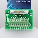 PLCインターフェースオスヘッダーパネル取り付け20ピン変換モジュールブレークアウトボードアダプターターミナルボード、機械設備用取り付け脚付き