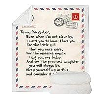 エクスプレス愛は私の娘への手紙手紙毛布、3Dはベッドホームテキスタイル夢のギフトブランケット上シェルパブランケットを印刷します,140x180cm