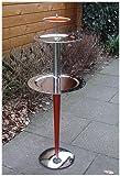 Extravaganter Designer Beistelltisch Chrome / Kirsche Höhe 109 cm