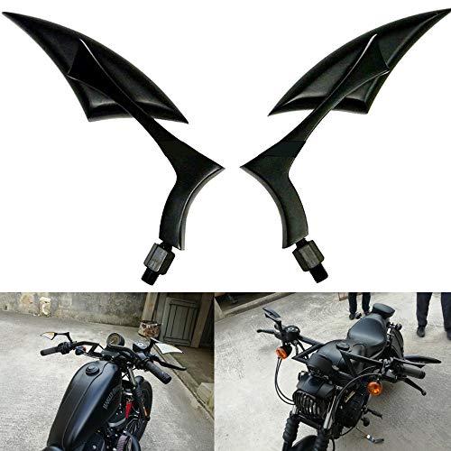 XIAOYUW Fits 2pcs Motocicleta Universal Espejos retrovisores for Suzuki Kawasaki for Yamaha V-Star XVS 650 950 1100 Silverado Custom
