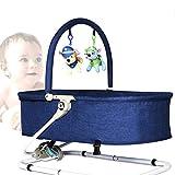 Rabbfay Siège à Bascule pour bébé à Ajustement Multiple, Chaise de bébé à Bascule portative pour Nouveau-né Pliable Facile,Blue