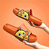 ergou Non-Slip Duck Sandals Quick Drying, Antislip Thick Massage Foam Home Bathroom Shower Sandalsfor Women and Men Outdoor Indoor, Cartoon Cute Summer Slippers (Orange,41)