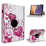 UC-Express Tablet Hülle kompatibel für Vodafone Tab Prime 6/7 Schutzhülle aus Kunstleder Tasche mit Standfunktion 360° drehbar Universal Cover Hülle, Farben:Motiv 5