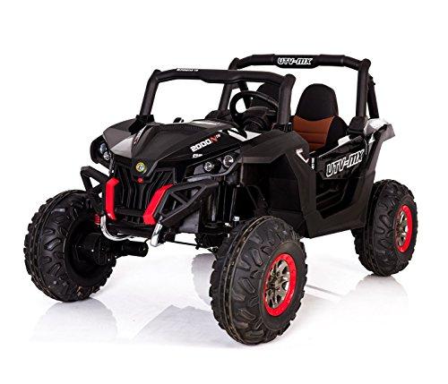 LT878 Quad eléctrico para niños mod. THUNDER 4 amortiguadores y asiento de cuero - Negro