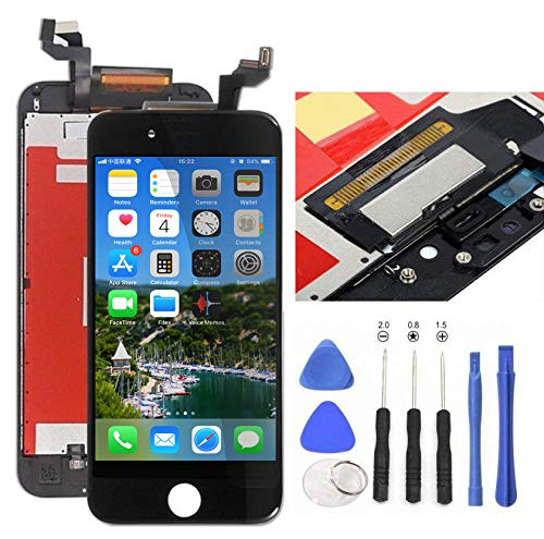 Black Replacement LCD Screen Compatible with iPhone 6S 4.7 Inch Display Digitizer Assembly Full Complete Front Glass with Repair Tools