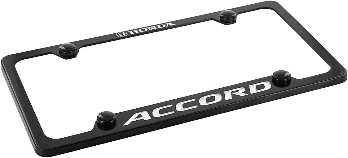 Honda Accord Wordmark Metal License Plate Frame Holder 4 Hole chrometwo
