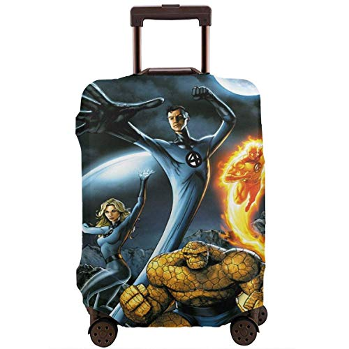 IUBBKI Travel Luggage Cover Fantastic Four Suitcase Cover Protector Washable Baggage Luggage Covers Zipper Fits M