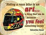 Valentino Rossi Casco, Moto Bicicleta de Carreras Quote-Parent - 9 x 6.5 cm (Magnet)