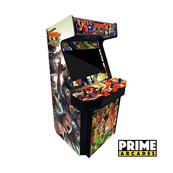4 Player Upright Arcade Machine from left