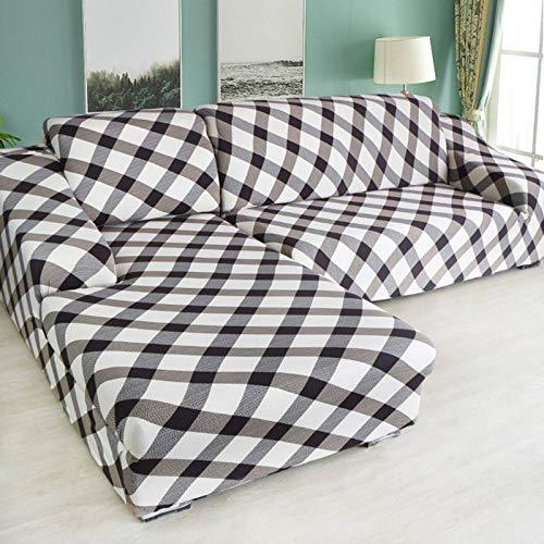 GOPG - Funda de sofá elástica, muy suave, cómoda, antideslizante, resistente al polvo, para sofá esquinero, sofá de 1, 2, 3, 4 plazas, sofá de 1 plaza, 90 - 140 cm