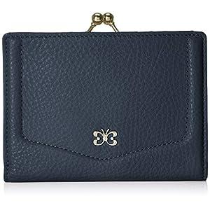 [ハナエモリ] 二つ折り口金財布 クロエ HMP452 ネイビー