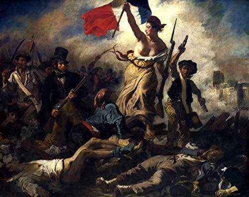 Berkin Arts Eugene Delacroix Giclee Kunstdruckpapier Kunstdruck Kunstwerke Gemälde Reproduktion Poster Drucken(Freiheit führt das Volk)