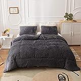 Smoofy Fluffy Comforter Queen Set, Faux Fur...