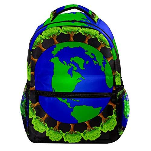 Schutz der Grünpflanzen der Erde Große Kapazitäts-Rucksack-Unisexrucksack-Mode-dauerhafte Reisetasche für das Kampieren, Einkaufen, kletternd