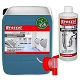 Sanitärreiniger 5 Liter Konzentrat inkl. Auslaufhahn 51 mm + 1x 1000 ml ABFLUSSREINIGER Abflussfrei...