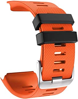 Haotop Soft Luxury Silicone Strap Bands Compatible for Garmin vivoactive HR(Watch Not Included) (Orange)