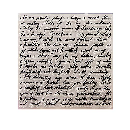 4.1 by 4.1 Inches Manuscripts Words Background Decoration Clear New Rubber Stamps for Scrapbooking Card Making Christmas Decors