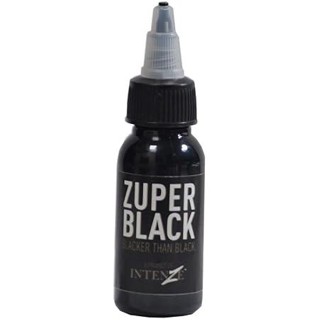 Intenze Professional Tattoo Ink Zuper, Black - (1 oz)