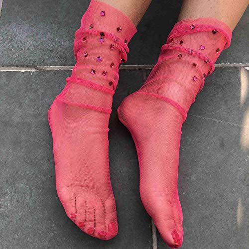 Pink Cupid Fishnet Stockings Hearts on Fishnet tights | Cosplay Vintage Pantyhose