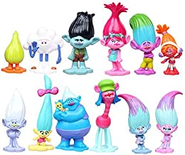Set of 6, 3-Inch-Tall Action Figures from Movie Trolls