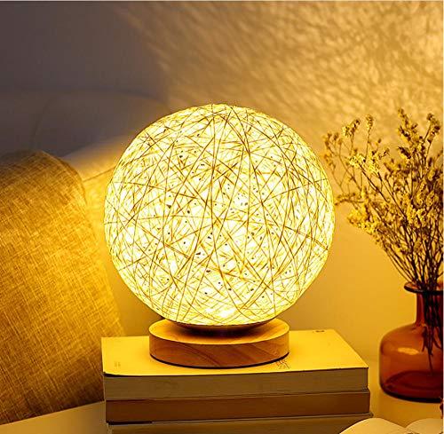 Fczka Novela LED Luz noche Bola ratán USB Decoración