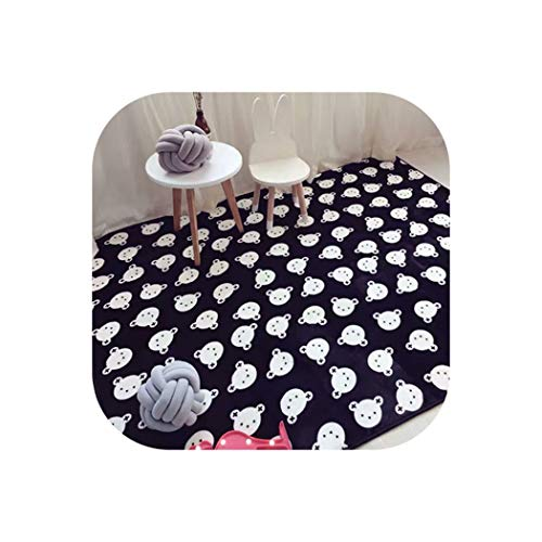 Modern Simplicity Black White Chevron Bear Living Room Bedroom Decorative Carpet Area Rug Bathroom Foot Door Yoga Play Mat Pad,3,145x190cm 57x75inch