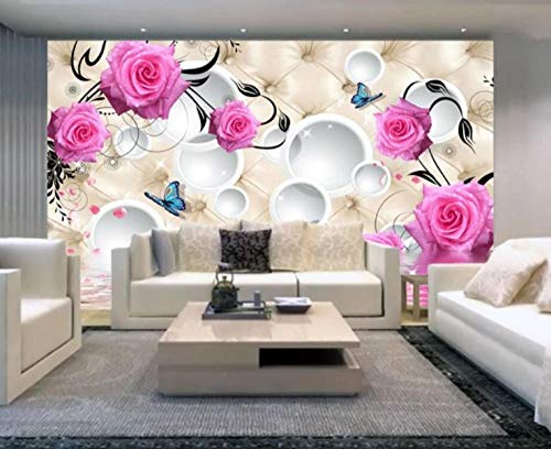 Wandvlies rosa Rose 3d Hintergrund Tapete Home Decoration Tapete-200 * 140cm