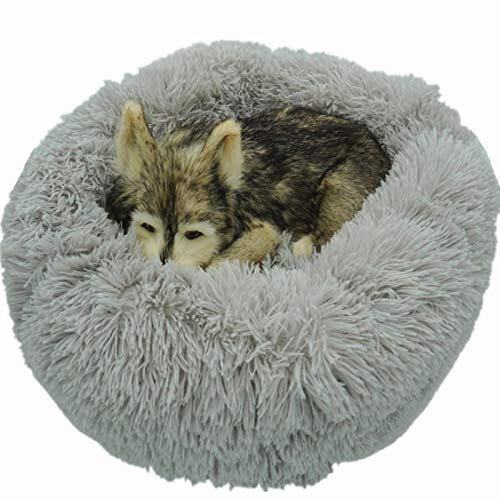 Dog bed plush round cat house warm small and medium-sized pet kennel