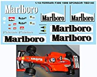 デカール 1/18 FERRARI F399 1999 SPONSOR MICHAEL SCHUMACHER DECALS TB DECAL TBD140