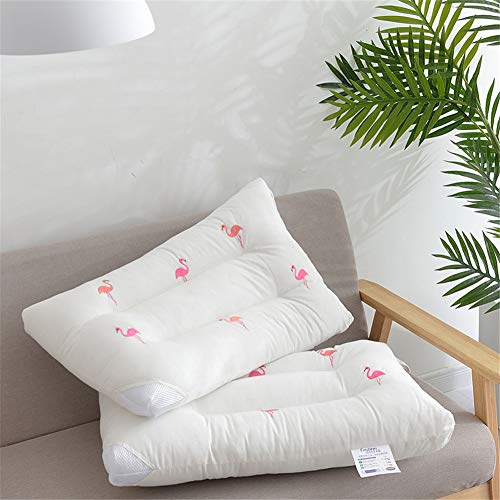 Embroidery Hotel Pillows for Sleeping, Super Soft & Comfortable, Best, Relief Migraine & Neck Pain Pillow Good for Side And Back Sleeper,2pcs