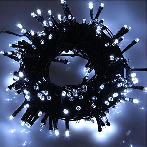 MOMEX 500 LED 35M Luci Albero di Natale Luci di Natale Esterno ed Interno Catena Luminosa 8 Modalità Luci da Stringa per Esterni, Giardini, Case, Matrimonio, Natalizie (Bianco, 500LED)