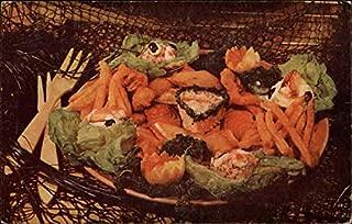 Ideal Fish Restaurant in Santa Cruz Santa Cruz, California Original Vintage Postcard