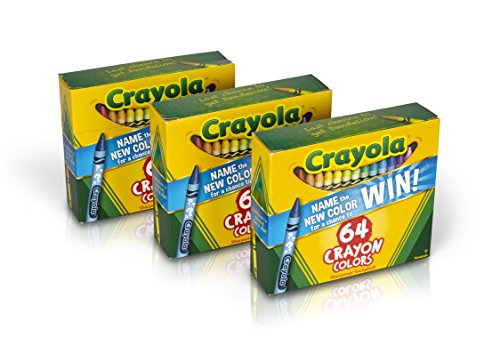 Crayola Crayons 64 Count (Set of 3), Bulk Crayons, Styles Vary