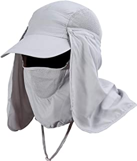 Unisex Sun Caps UV Protection with Removable Neck and Face Flap Hats for Summer Outdoor Fishing Cycling Hiking