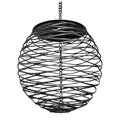 TOPofly Bird Feeder Hanging Bird Seed Nut Feeder Metal Feeding Cage Ball Hanging Feeder for Wild Bird Garden