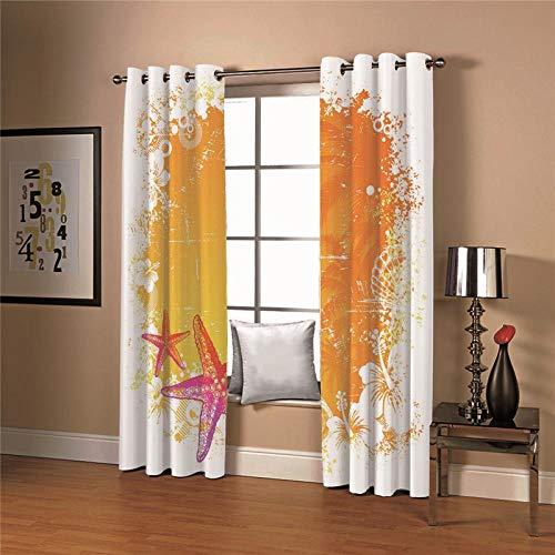cortinas estampadas en rojas y amarillas